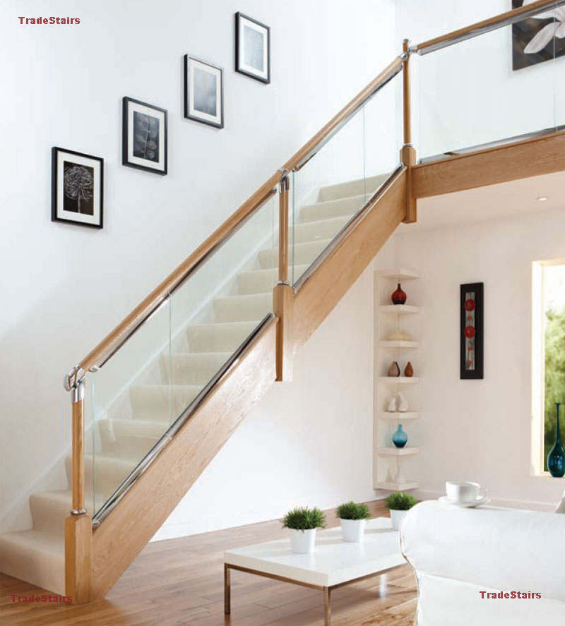 25 Stair Design Ideas For Your Home: Glass Look Balustrade Ideas