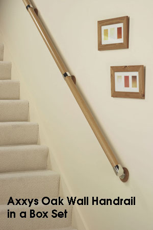 Easy To Order Wooden Wall Handrail Sets Stair Banister Rails