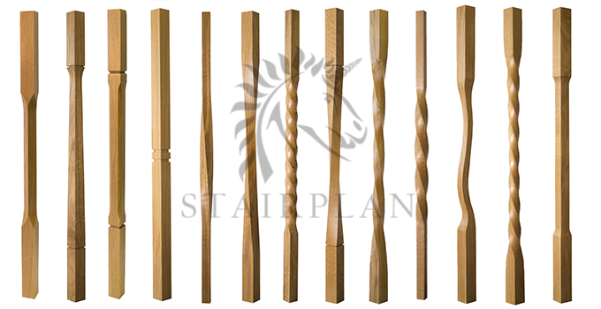 New Contemporary Oak Baluster Collection