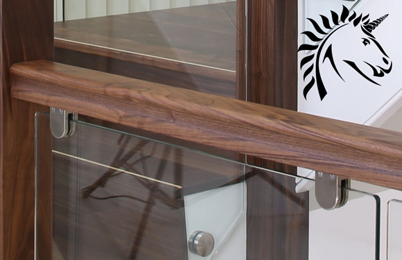 Denver Black Walnut Handrail 1800mm