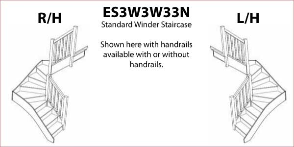 ES3W3W33N Standard Mid Double Winder Staircase
