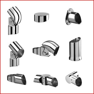 Fusion Stair Parts. Fusion Chrome Fittings