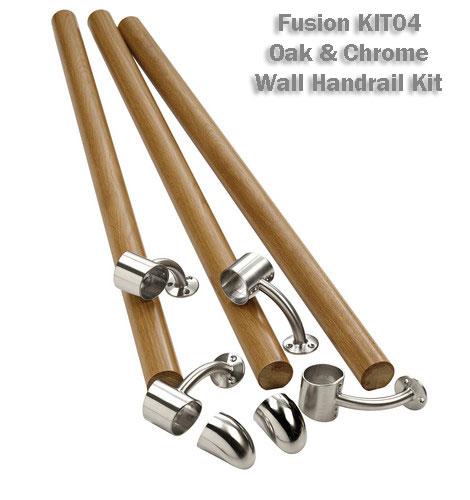 Beau Fusion Wall Handrail Kit Stair Banister Rail