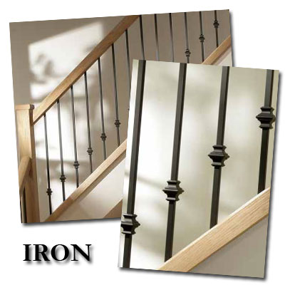 Iron Contemporary Stair Balusters Stylish Modern Stair