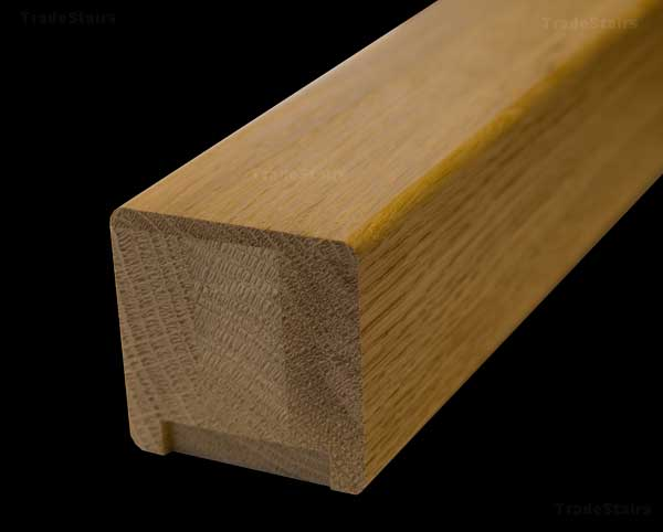 Newark Contemorary Square Oak Stair Handrails And Stair Parts