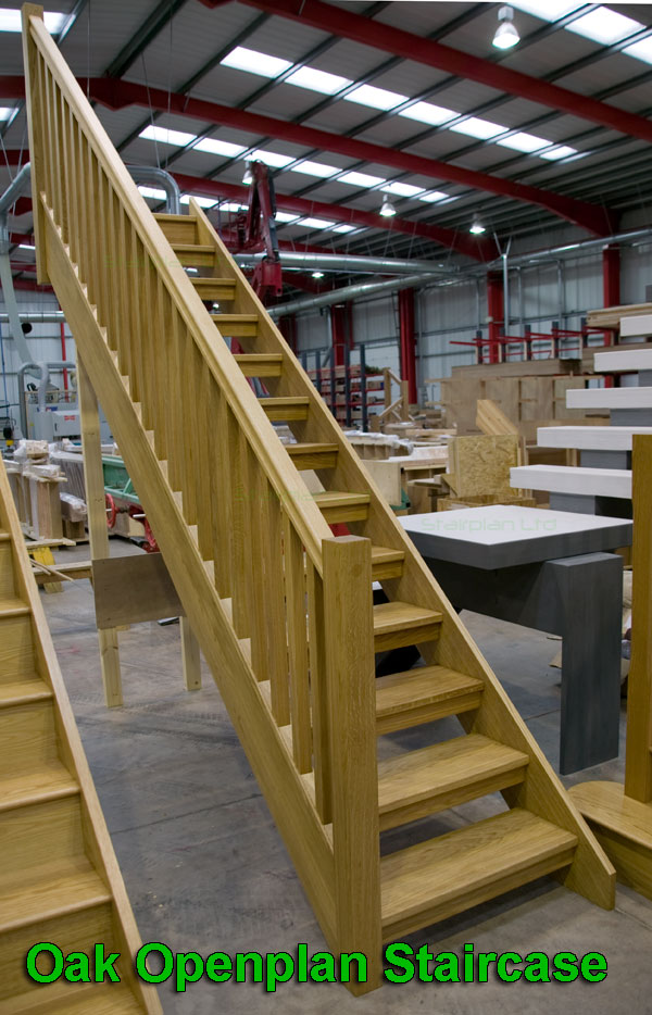 Oak staircases made to size low online prices straight for Ready made stairs