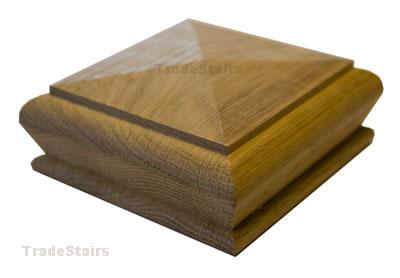 c79653de0c1 White Oak Pyramid Style Newel Cap