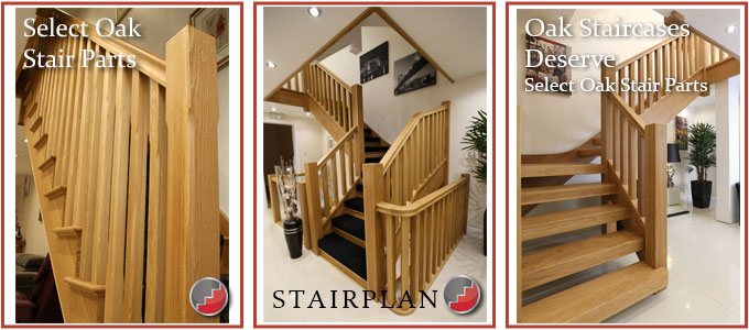 White Oak Stair Parts