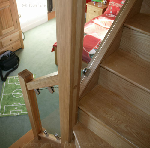Oak Staircases With Vision Balustrade