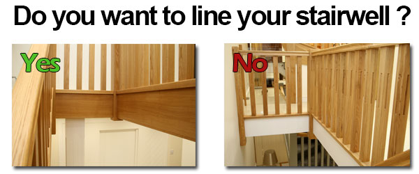 Contemporary White Oak Stair Balusters. Oak Stairwell Linings