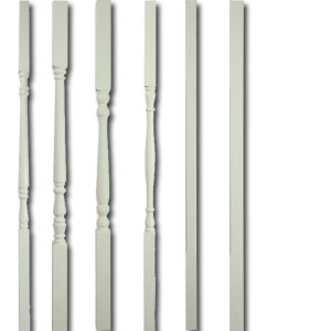 Attractive White Primed Stair Spindles