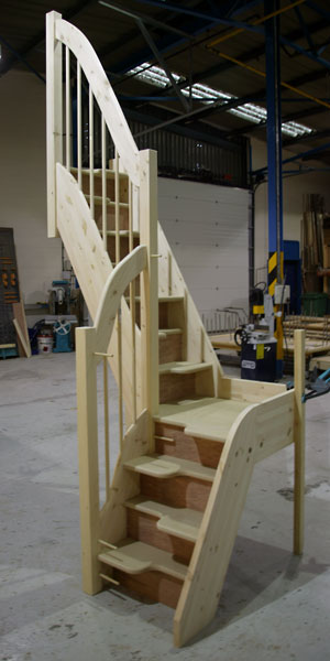 Space saver staircases from tradestairs space saving - Space saving stair design ...