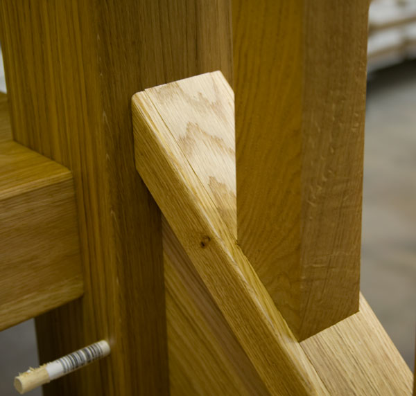 Chunky Oak Stair Banister Parts