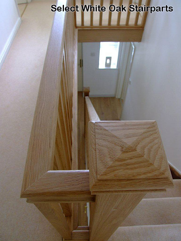 White Oak Ungrooved Handrails Select Range Oak Stair