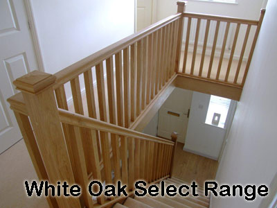 Beau White Oak Stairparts