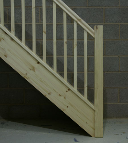 Square Newel Posts And Balusters
