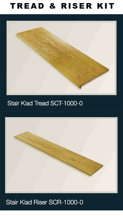 Stair Klad Tread U0026 Riser Kit Oak 1000mm