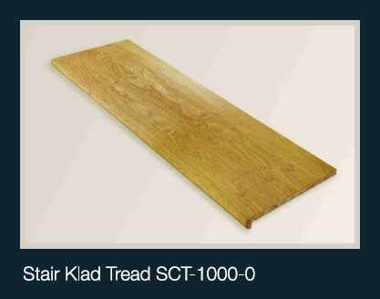 Stair Klad Tread Oak 1000mm