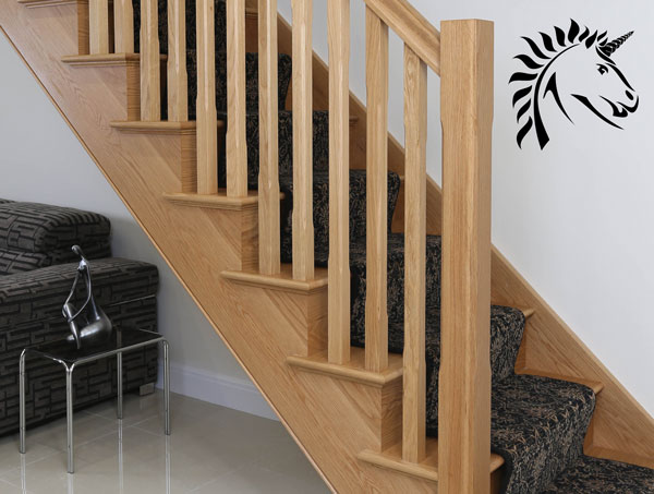 Oak Stair Railing Components