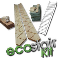 Flatpack 12 Riser Ecostair Straight Staircase