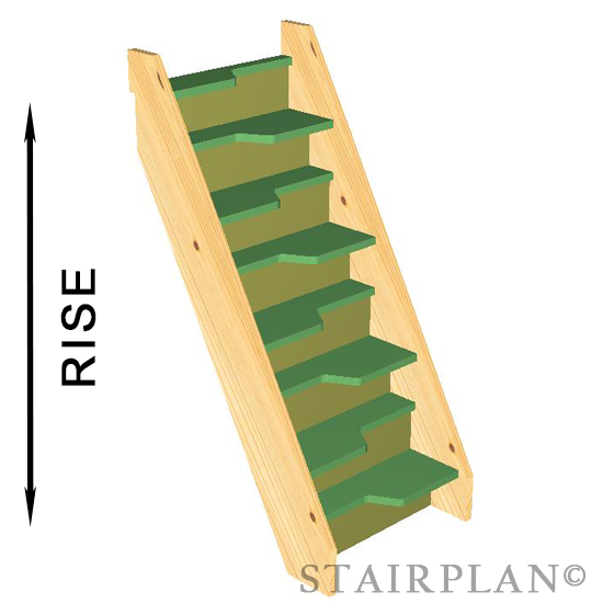 Budget Alternating Tread Staircase 8 Risers. Budget Space Saver Staircase 8  Risers